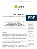 UMLR Searching for Eden – The Right to ...UMLR | University of Malaya Law Review