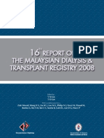 16th Report of the Malaysian Transplant & Dialysis Registry 2008