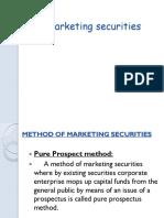 Marketing Securities