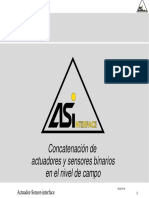 Concatenacion de Actuadores y Sensores Binarios en El Nivel de Campo