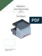 Mechanical Design Project Report