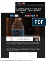 Nestle Bottles Millions of Litres of Water - Pays Nothing - Then Selling It