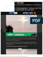 Otherworldly Phenomena_ 'JESUS on the Cross' Appears in the Sky