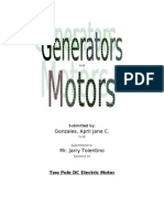 Science project - Generators and Motors
