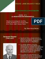 Kayser y Análisis Morfológico de Diarios
