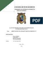 Informe La Ley de Proteccion de Datos Personales