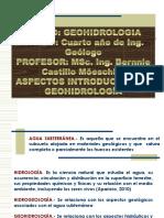 ASPECTOS INTRODUCTORIOS  A LA GEOHIDROLOGÍA