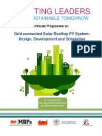 Certificate Programme on Grid-connected Solar Rooftop PV System