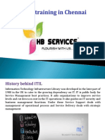 ITIL Training in Chennai