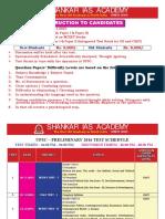 UPSC–Preliminary 2016 Test Schedule