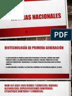 Normas Nacionales Mexicanas de Biotecnologìa