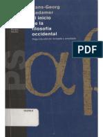 Gadamer-El Inicio de la Filosofía Occidental (escáner).pdf