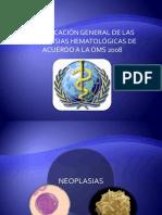 clasificación de las neoplasias hematologicas
