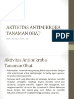 Aktivitas Antimikroba Tanaman Obat