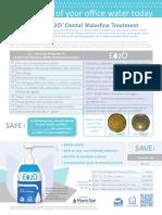 E2O Dental Waterline Treatment Sell Sheet 2013