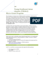 2017 YSEALI Micro Grant Program Announcement English