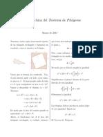 Prueba China del Teorema de Pitagoras