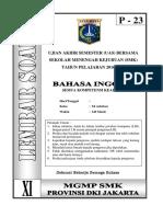 Soal Bahasa Inggris Kelas XI Paket 23 (FIX)