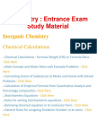 Chemistry- Important Questions and Answers, Entrance Exam, Study Material and Notes for all subject - BrainKart