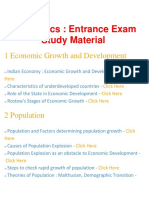 Economics - Important Questions and Answers, Entrance Exam, Study Material and Notes for all subject - BrainKart