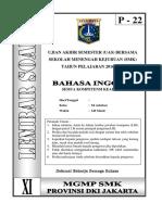 Soal Bahasa Inggris Kelas XI Paket 22 (FIX)