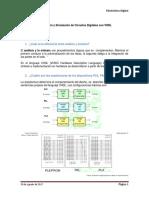 Descripción y Simulación de Circuitos Digitales Con VHDL