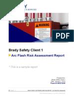 Arc Flash Risk Assessment Sample Report