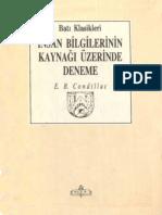 E. B. Condillac - İnsan Bilgilerinin Kaynağı Üzerine Bir Deneme