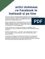 10 Practici Dubioase Pe Care Facebook Le Testează Și Pe Tine