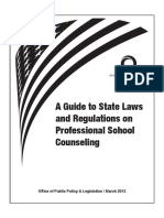 School Counseling Regs 2012