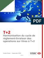 Harmonisation du cycle de règlement-livraison des titres en Europe