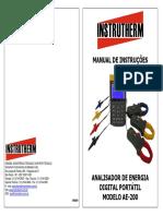 Analisador de energia Instrutherm AE-200