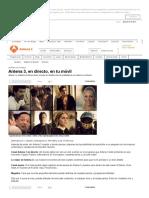 Antena 3, En Directo, En Tu Móvil - ANTENA 3 TV