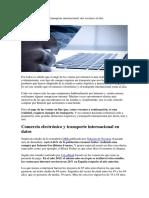 Comercio Electrónico y Transporte Internacional