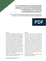 SANFELICI, Daniel - A centralidade das aglomerações metropolitanas na economia globalizada.pdf
