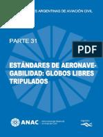 31 Estándares de Aeronavegabildiad Globos Libres no Tripulados.pdf