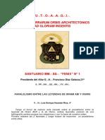 Paralelismo entre las Leyendas de Hiram Abí y Osiris - V.·. H.·.Luis Enrique Huamán Ríos, 4°