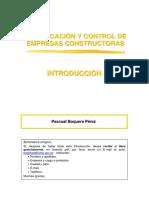 Introducción de Planificación y Control de Empresas Constructoras