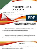 Direitos Humanos e Bioética.