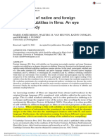 Bisson, 2014 - Processing of Native and Foreign Language Subtitles in Films an Eye Tracking Study