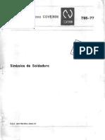 0785-1977 Símbolos de Soldadura