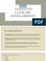 MANIFESTE LITERARE AVANGARDISTE