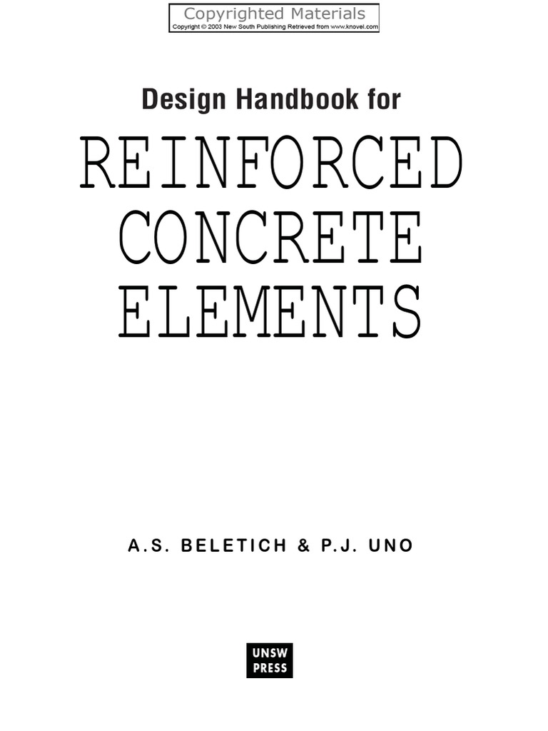 Design Handbook for Reinforced Concrete Elements | Beam (Structure) |  Strength Of Materials