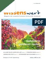 wissenswert Oktober 2017 - Magazin der Leopold-Franzens-Universität Innsbruck