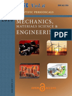 Mechanics, Materials Science & Engineering Journal  Vol 6