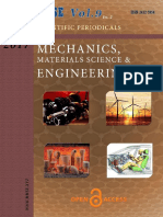 Mechanics, Materials Science & Engineering Journal  Vol 9 No 2