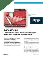 2017 Thierry COLLIER Comment Calculer Les Doses d'Anesthésiques Locaux Pour Un Patient en Bonne Santé ID Mag