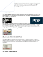 3 Metodos Anticonceptivos de Cada Clase