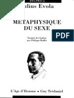 Julius Evola - 1958 - Métaphysique Du Sexe