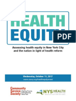 Health Equity - Panel on accessing health equity in New York City (Program)